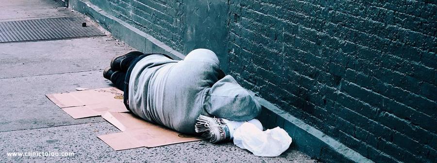 ابتلا به اعتیاد در افراد بی خانمان